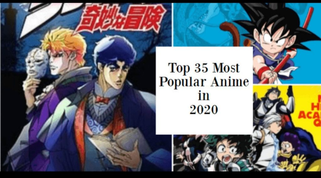 Top 35 Most Popular Anime in 2020 based on Stats