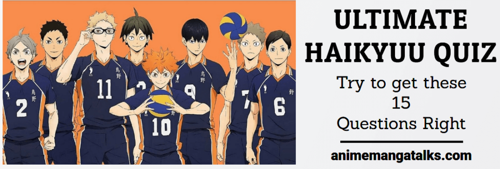 Ultimate Haikyuu Quiz For True fans #1