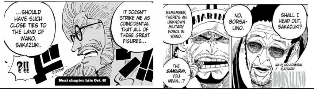 Navy going to wano foreshadowing